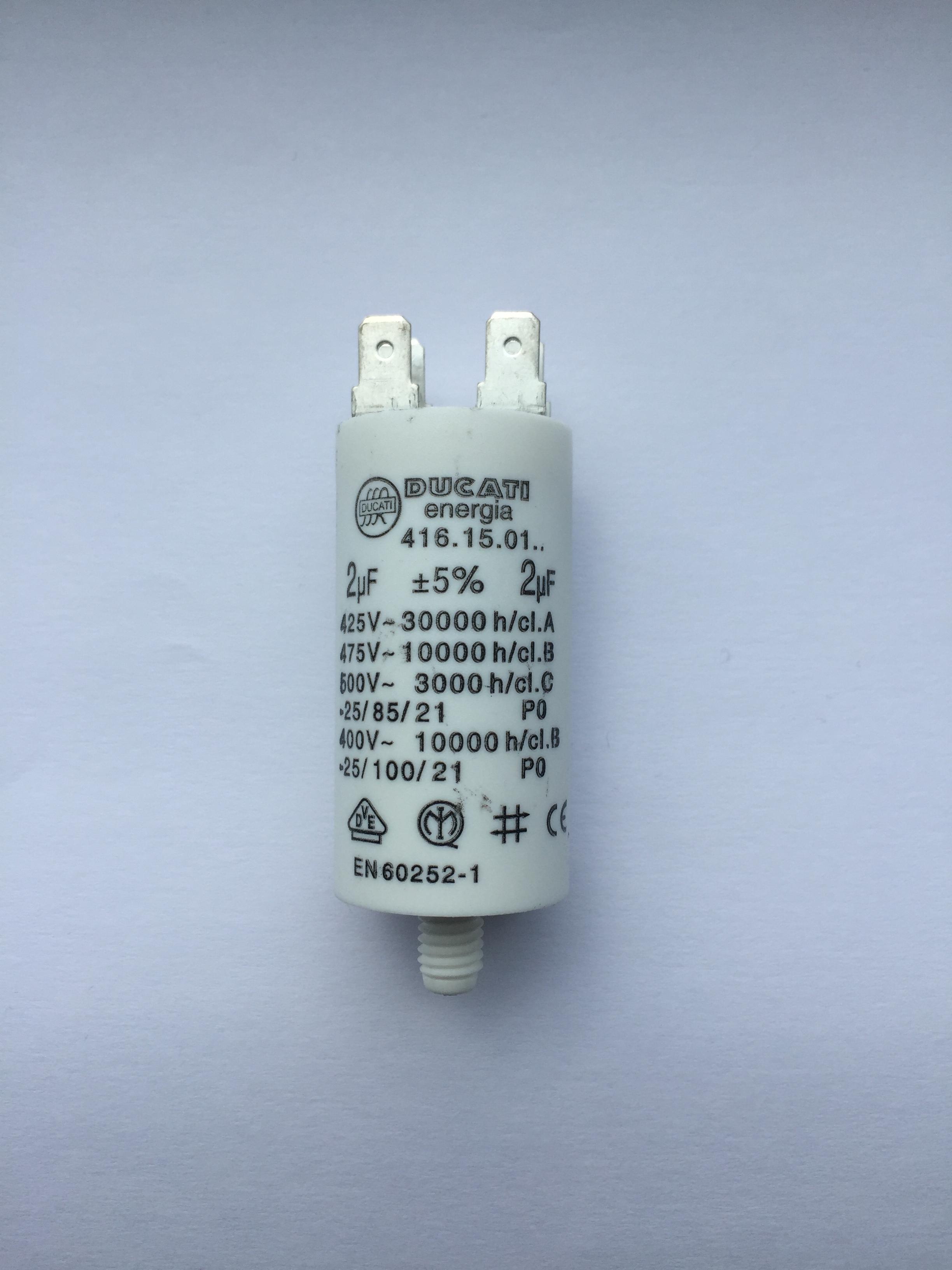 Buy motor run capacitors 2uf buy now get next day delivery for Ducati energia motor run capacitor