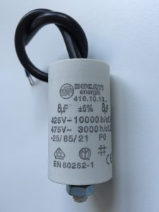Motor Run Capacitors 8uF Twin Lead 240v-475v pf