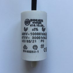 Motor Run Capacitors 6uF Twin Lead 240v-475v pf