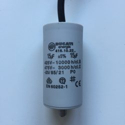 Motor Run Capacitors 15uF Twin Lead 240v-475v pf