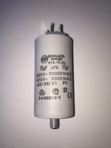Motor Run Capacitors 15uF AC Tag Spade Connector 240v-475v pf