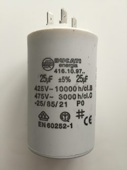 Motor Run Capacitors 25uF AC Tag Spade Connector 240v-475v pf