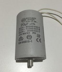 Motor Run Capacitor 20uF Microfarad White Wires