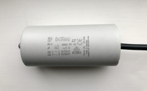 ItalFarad Motor Run Capacitor 40uF Black Twin Lead
