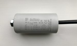 Italfarad Motor Run Capacitor 14uF Black Twin Lead