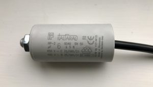 Italfarad Motor Run Capacitor 6uF Black Twin Lead