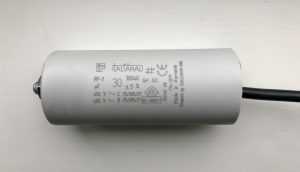 Italfarad Motor Run Capacitor 30uF Black Twin Lead