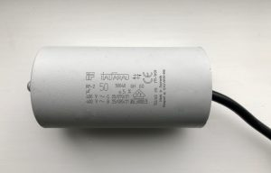 Italfarad Motor Run Capacitor 50uF Black Twin Lead