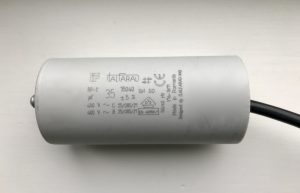 Italfarad Motor Run Capacitor 35uF Black Twin Lead